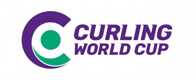 Curling world cup, doubles curling event host logo
